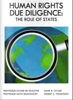Human Rights Due Diligence: the Role of States