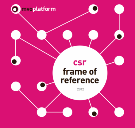publication cover - CSR Frame of Reference 2012