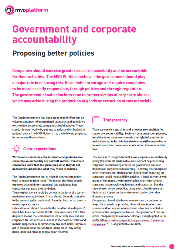 publication cover - Government and Corporate Accountability