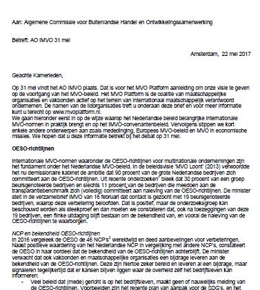 Brief MVO Platform voor AO IMVO 31 mei