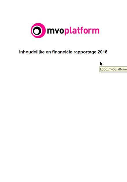 Jaarverslag MVO Platform 2016